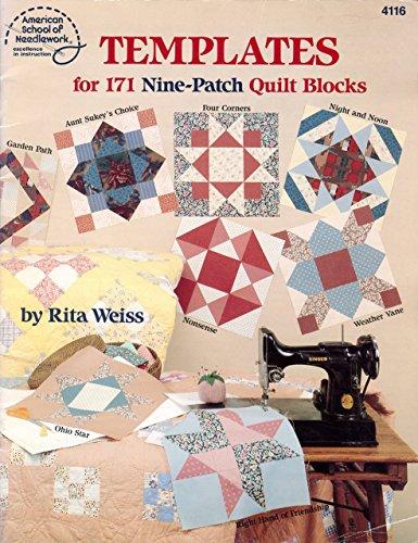 Patch Blocks Nine Quilt - Templates for 171 Nine-Patch Quilt Blocks (4116)