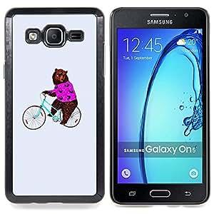 Circus Funny Animal Bicycle Caja protectora de pl??stico duro Dise?¡Àado King Case For Samsung Galaxy On5 SM-G550FY G550