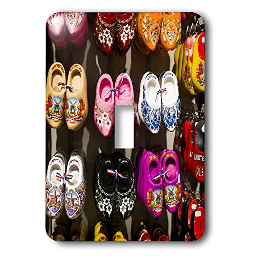 3dRose Danita Delimont - Netherlands - Netherlands, Amsterdam. Souvenir Dutch wooden shoes - 2 plug outlet cover (lsp_313798_6)