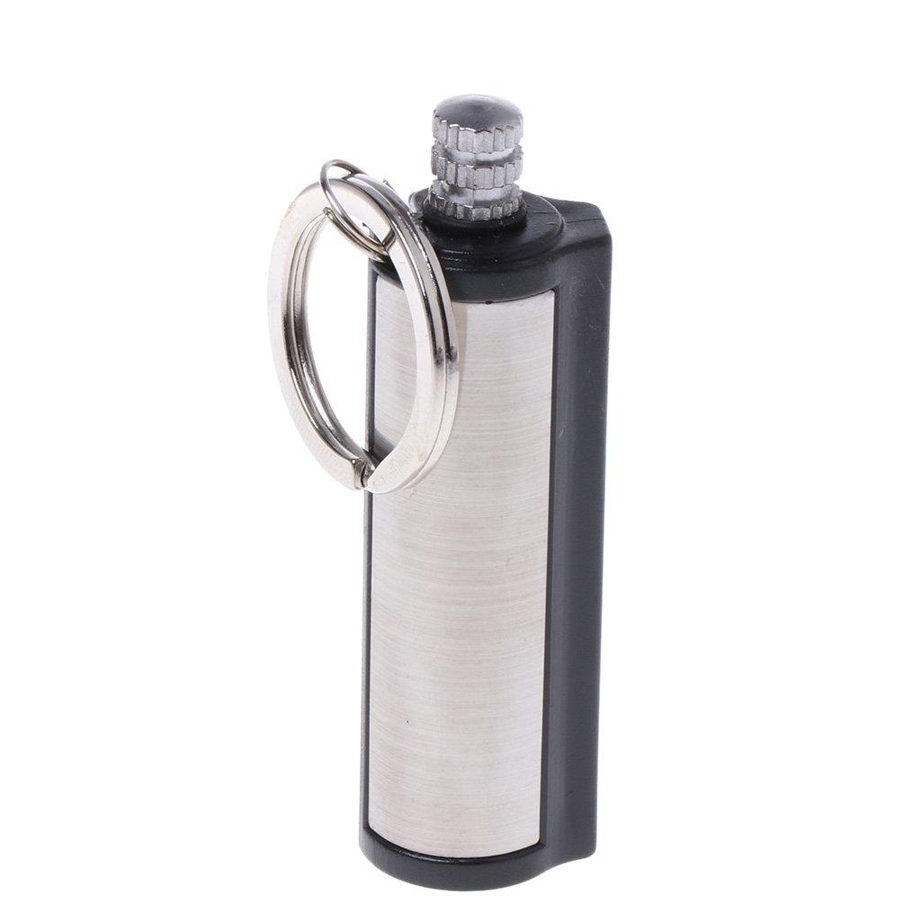 Forgun Fashion Permanent Striker Lighter Match Silver Metal Key Chain