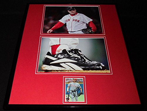 Curt Schilling Signed Framed 16x20 Bloody Sock Photo Set JSA Red (Curt Schilling Framed Photo)