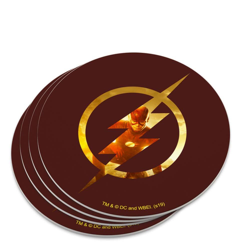 The Flash TV Series Flash in Logo Novelty Coaster Set
