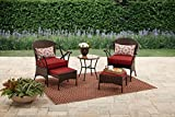 Skylar Glen 5-Piece Small Space Solution Outdoor Leisure Set, Red: