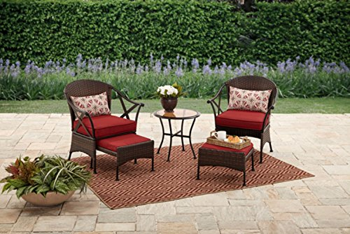 Skylar Glen 5-Piece Small Space Solution Outdoor Leisure Set, Red: For Sale