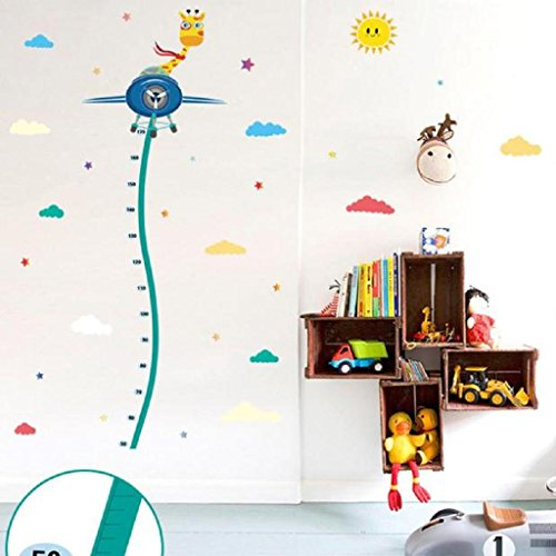 [Wall Stickers,GOODCULLER (You) DIY Removable Room Home Decor Child Height Wall Stickers Giraffe Plane] (John Lennon Costume Diy)