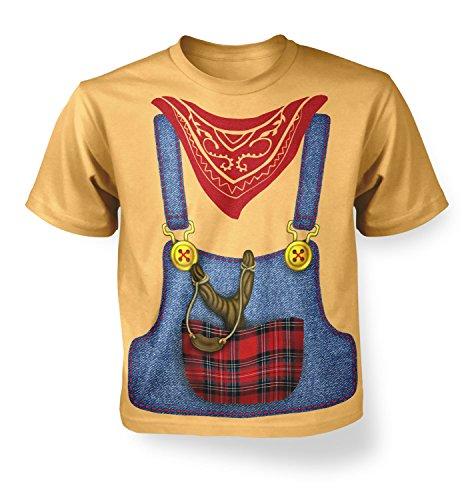 Hillbilly Costume Kids T-shirt - Yellow Haze S (5-6) (2)