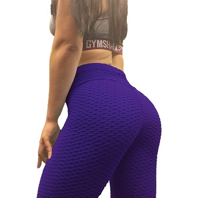 Amazon.com: Raujout Pue Leggings de cintura alta para mujer ...