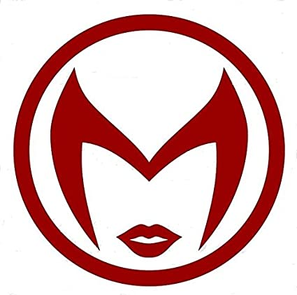 Amazon Marvey Comics Scarlet Witch Logo Vinyl Stickers Symbol