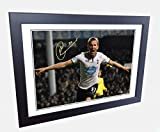 Signed 12x8 Black Soccer Harry Kane Tottenham Hotspur Spurs Autographed Photo Photograph Football Picture Frame Gift A4