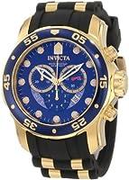 Invicta Men's 6983 Pro Diver Collection Chronograph Blue Dial Black Polyurethane Watch from Invicta