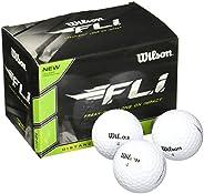 Wilson Bolas de golfe Staff F.L.I. (pacote com 12) brancas
