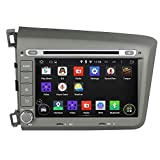 Android 4.4 Kitkat Quad Core 1024x600 Car DVD Player GPS Navigation Stereo Head Unit Radio for Honda Civic 2012