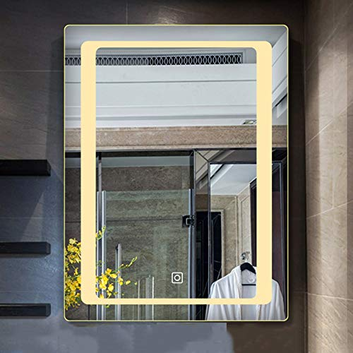 BATH Luxury LED Mirror- Size 600MM×800MM-Touch Switch-Bathroom Mirror with LED Illumination-Wall-Mounted Makeup -