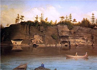 """James Hope Outing at Lake Mohonk - 18"""" x 27"""" Peel & Stick Removable Wall Decal"""