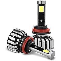 80W LED Car Headlight IP68 Waterproof H11 (H8, H9) Liibot High Power 200M Long Range KIT Bulbs 6000K Cool White Lamp With 13000RPM Turbo Cool Fan