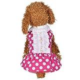 Pet Dress, Cute Puppy Dot Point Pearl Skirt Dress Dog Cat Costumes Pet Clothes (XS, Pink)