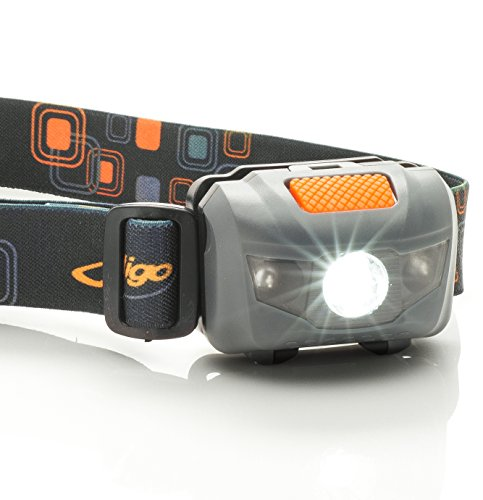Juligo Water Resistant,Adjustable, Cree LED Super Bright Headlamp Flashlight - Orange