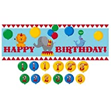 Creative Converting Circus Time Giant Party Banner with Customizable Year Stickers