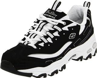 Skechers Sport Women's D'Lites Lace-Up Sneaker, Black/White, 9 M US (B0012G4A70) | Amazon price tracker / tracking, Amazon price history charts, Amazon price watches, Amazon price drop alerts