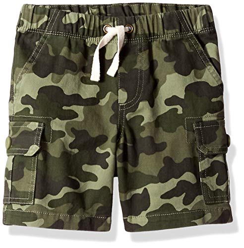 Amazon Essentials Big Boys' Cargo Short, Camo Olive, M (8)