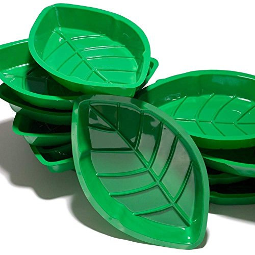 (Fun Express - Vacuum Plastic Palm Leaf Serving Trays for Spring - Party Supplies - Serveware & Barware - Serving Platters - Spring - 12 Pieces)