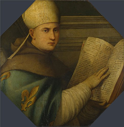 (The Polyster Canvas Of Oil Painting 'Giovanni Antonio Pordenone Saint Louis Of Toulouse ' ,size: 12 X 12 Inch / 30 X 31 Cm ,this Replica Art DecorativeCanvas Prints Is Fit For Foyer Gallery Art And Home Decor And Gifts)