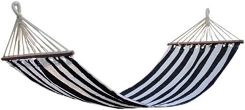 LHLCG Hamac ext/érieur en Toile avec b/âton en Bois Park Swing Hamacs Simples Camping Plage Touristique Balcon