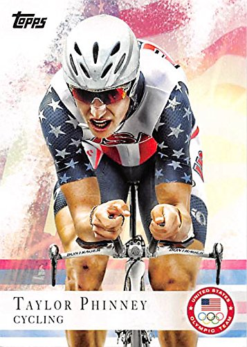 Taylor Phinney trading card (United States Olympic Team, Cycling) 2012 Topps #71