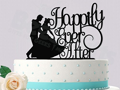 Disney Wedding Cake Toppers (Cinderella Happily Ever After Inspired Wedding Cake Topper)