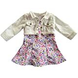 "18 Inch AG Doll Clothes,Trendy Floral Print Dress with Cropped Short Jacket for American Girl Style 18"" Dolls! School Dress Up Doll Clothes"