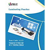 "Hot Thermal Laminating Pouches 5Mil - 9x11.5 Inches for sealed 8.5x11"" Photo - 100 Sheets 9x11.5 inches Pack , Uinkit 24 hours service , 3 years warranty"