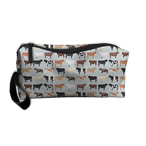 Farmhouse Cows Cosmetic Bag - MakeUp Organizer - Lightweight Toiletry Travel Bag