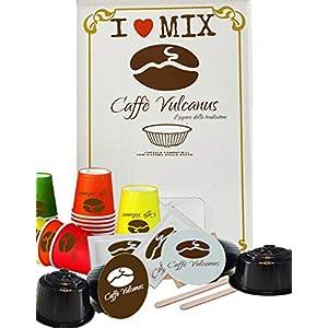Caffè Vulcanus - 100 capsule Dolce Gusto compatibili - Degustazione miscela Napoli ed Ischia + kit accessori con…