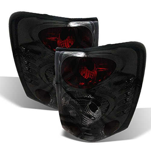 For Jeep Grand Cherokee Sport SUV Rear Tail Lights Signal Brake Lamps Smoked Pair Left + Right Set