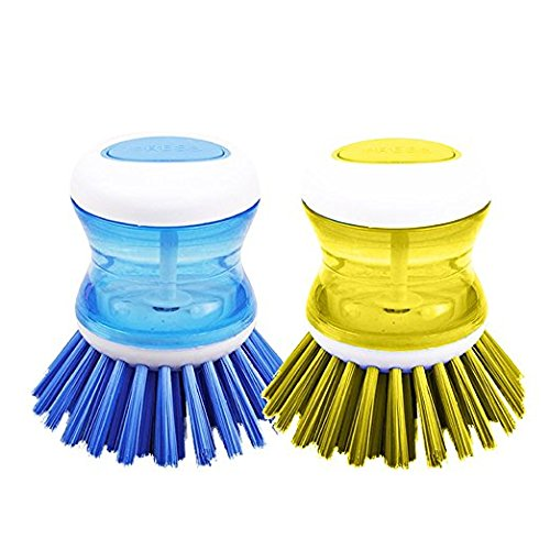 DishPanSoap | 4 Pcs Soap Dispensing Dish Palm Brush with ...