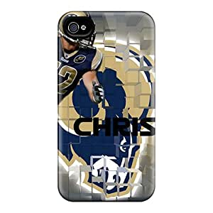 KerryParsons Iphone 4/4s Bumper Hard Phone Case Support Personal Customs Nice St. Louis Rams Image [ArA20237KJWy]