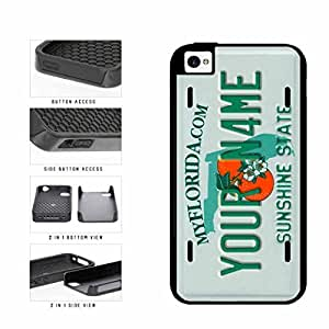 Personalized Custom Florida License Plate 2-Piece Dual Layer Phone Case Back Cover iPhone 4 4s