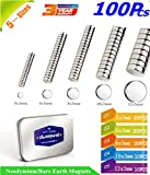 Neodymium Rare Earth for Magnets, Hooks, Disc,Permanent, DIY,Building, Scientific, Craft,Fridge, DIY,Scientific and Office (5-Size Kit/A)