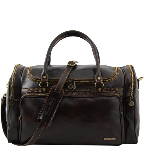 Tuscany Leather Praga Travel leather bag Dark Brown by Tuscany Leather