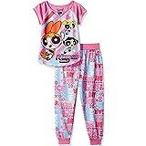 Powerpuff Girls Big Girls' Power Puff 2pc Sleepwear Set, Pink, M(7-8)