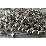 Silver Upholstery Tacks Furniture Hardware Decorative Nails 16mm Dia (Pack Of 300pcs)