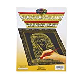 Melissa & Doug Scratch Art Scratchboard - 10-Pack, Shimmering Gold on Black Background