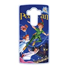 Durable Rubber Cases LG G4 Cell Phone Case White Temie Peter Pan Protection Cover