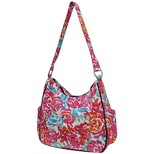NGIL All Hobo Quilted in Fashion the Print Garden Bag Flowers r1X0wqr