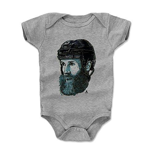 500 LEVEL Joe Thornton San Jose Sharks Baby Clothes, Onesie, Creeper, Bodysuit (3-6 Months, Heather Gray) - Joe Thornton Bust ()