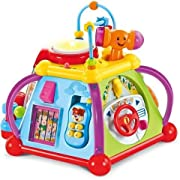 Musical Activty Cube Play Center with Lights & Sounds, - Contains More Than 15 Games and Skills to learn - This activity cube play center is the best gift for Kids age 1 - 7 yrs old