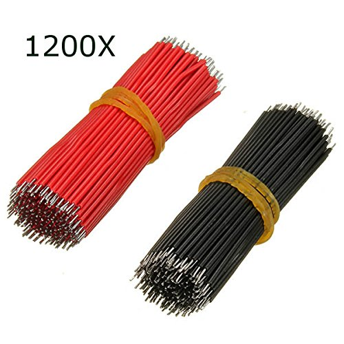 1200Pcs 6cm Breadboard Jumper Cable Electronic Wires Black Red Colour by BephaMart