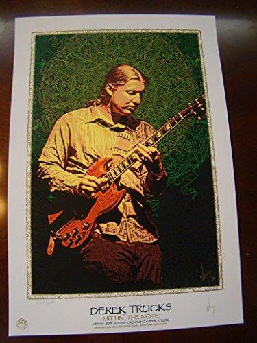 Derek Trucks Music Poster Derek Trucks Allman Brothers Wood 2006