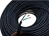 18/3 Black Round Rayon Cloth Covered 3-Wire 18 Gauge Electric Cord, Farbic Wire Lamp Cord Fabric Wire Hanging Pendant Light Fixtures Great for Industrial Vintage Retro DIY Projects UL Listed (10 feet)