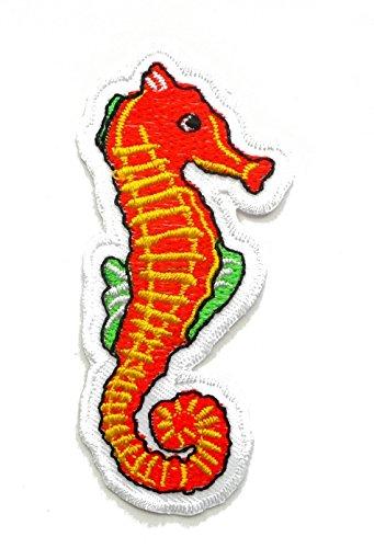【ノーブランド品】アイロンワッペン ワッペン 動物・魚・生き物ワッペン 刺繍ワッペン タツノオトシゴ アイロンで貼れるワッペンの商品画像